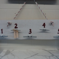 Nautical Coat Rack/Life jacket rack