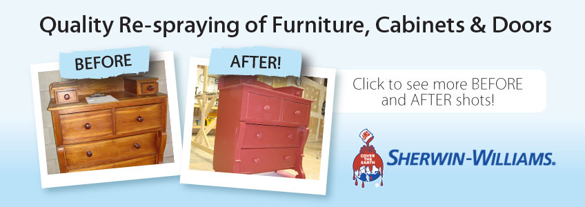quality respraying of furniture