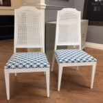 Beautiful white Upholstered chairs $75 each