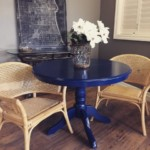 Navy table $350 (includes 2 leaves)