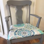 Arm Chair sprayed in classic french gray $95